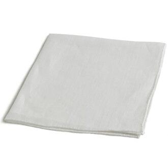 MUNGAI ムンガイ high quality linen chief square chief E7 white X white