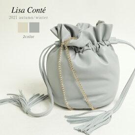 Lisa Conte リサコンテ レディース コート ムートン ウール ダブルブレスト LC1940 PANNA/オフホワイト TORTORA/グレージュ