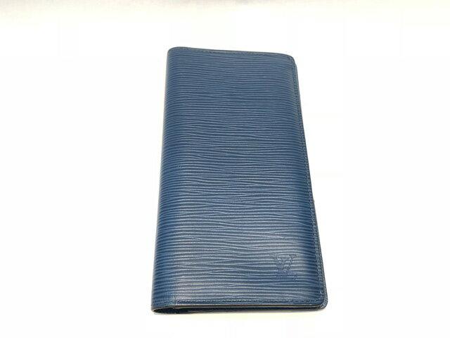 【中古】LOUIS VUITTON ルイヴィトン ポルトフォイユブラザ エピ ブルー レザー 長財布