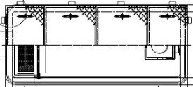 【ホーコス】[日本阻集器工業会認定品]超浅型グリース阻集器(グリストラップ)GFRA-N70EA 側溝流入式別枠式マンホール 鋼板製防錆塗装蓋付シンダー埋込型