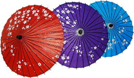 日傘 梅 【 訳あり特価 】※お一人様2本までとさせていただきます。※水色のみ紙色濃いものと淡いものがあります。