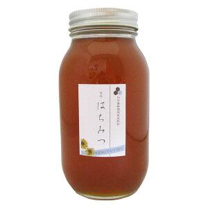 F【九州産純粋生はちみつ(1200g)】【福岡県産天然ハチミツ100%】日本蜜蜂みつばち 非加熱 垂れ蜜 無給餌 薬品不使用 日本ミツバチ