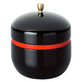 【茶筒・鈴子 塗り/黒(φ86mm×高さ97mm)】【内容量80g用】【塗装缶】【ツマミ付き】