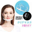 クリアマスク 衛生マスク 3個セット サリバガード 透明マスク マスク 飛沫防止 調節可能 プラスチック 曇り止め 曇り…