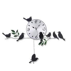 振り子時計 壁掛け 鳥の振り子時計 時計 鳥 振り子 掛け時計 壁掛け時計 壁掛時計 おしゃれ かわいい ウォールクロック インテリア 寝室 リビング ER-PDCK[送料無料]