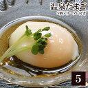 温泉たまご (5個入り・タレ付き)[ 温泉玉子 温泉卵 放し飼い自然卵 ]※【 冷蔵 限定配送 】※冷凍限定商品とは同…