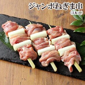 焼き鳥 鶏肉 ジャンボねぎま串やきとり 3本入 生串 もも肉 千葉県産 国産 やきとり 焼鳥 ヤキトリ 生 串もの BBQ セット バーベキュー 業務用 職人 手刺し