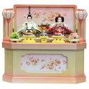 雛 プリンセス 親王飾り 収納タイプ h50cm × w55cm× d36cm 274417