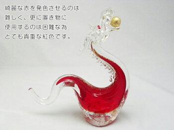 ガラスの昇龍紅龍(べにりゅう)【還暦/記念品/プレゼント】