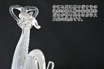ガラス細工昇龍白龍【還暦/記念品/プレゼント】