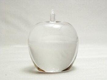 粋工房ガラスのリンゴ文字入れ名入れで贈り物にピッタリ!