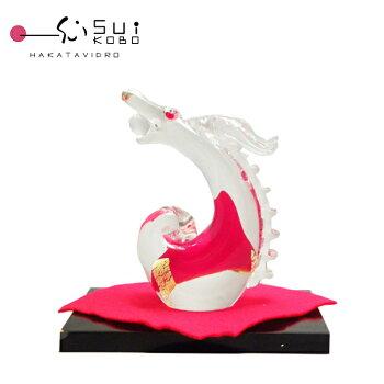 ガラスの昇龍宝龍紅(たからりゅうべに)【還暦/記念品/プレゼント】