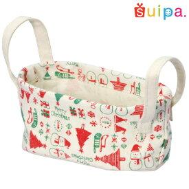 ■【クリスマス ギフトバッグ】コットンバスケット クリスマスS 1個【ギフトバッグ 焼き菓子 プレゼント 袋 子供かばん】