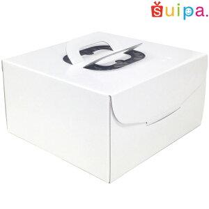 ■【デコレーションケーキ箱】【日本製】キャリーデコケーキ箱 7号(内寸250×250×140H)5個【ホールケーキ プリン 箱 持ち運び ラッピング】【出し入れしやすい横開き】【保冷剤スペー