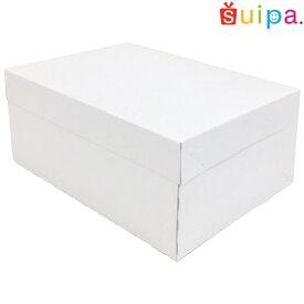 ■【日本製】ケーキ箱 新PAOケーキボックス ホワイト(内寸240×180×105H) 5個【ケーキ プリン 箱 持ち運び ラッピング】