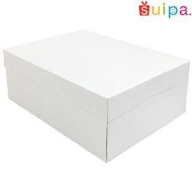 ■【日本製】ケーキ箱 新PAOケーキボックス ホワイト(内寸270×210×105H) 5個【ケーキ プリン 箱 持ち運び ラッピング】