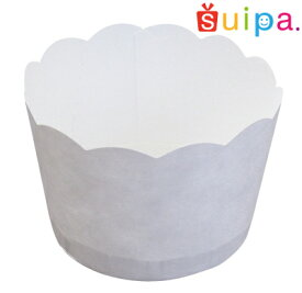 ■【カップケーキ 焼型】白無地ポテトカップ PC2−T(ミシン目入) 100個【マフィン カップ】