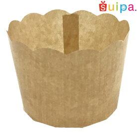 ■【カップケーキ 焼型】PM360 ペルガミンカップ(茶無地)70cc 10個【マフィン カップ】【お求めやすい少量販売です!】