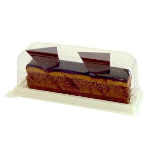 【長方形ケーキケース】スティックケーキアイボリー本体・蓋セット20個