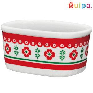 【陶器】オーバルカップフローラ1個【ポーランド柄】