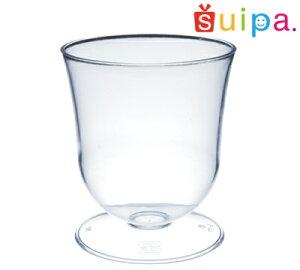■【ワイン グラス風 パフェ プラスチック】【日本製】PS 66-150 ダイアナカップ 6個【脚付きカップ パフェカップ ゼリー容器 プリンカップ 使い捨てカップ プラスチック】