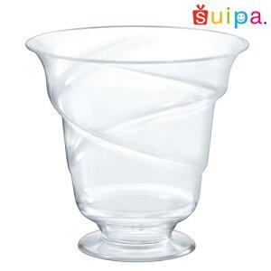■【送料無料】【日本製】PS 88-200 トルネードパフェ 210個【脚付きカップ パフェカップ ゼリー容器 プリンカップ 使い捨てカップ プラスチック】