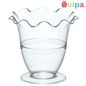 ■【パフェ グラス風 プラスチック】PS フルールパフェ 6個 【脚付きカップ パフェカップ ゼリー容器 プリンカップ 使い捨てカップ プラスチック】
