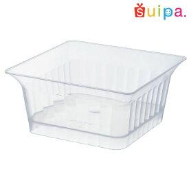 【送料無料】【耐熱】PP86角 マーブルカップ 透明 600個 【デザートカップ プリンカップ プラスチック容器 耐熱容器】