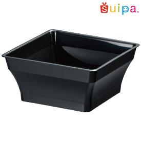 ■【耐熱】PP86角 アラモードカップ 黒 25個【デザートカップ プリンカップ プラスチック容器 耐熱容器】【角型カップ】【数量限定品】