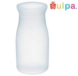 【送料無料】【耐熱】PPブロー 44-130 ミルクボトル 600個 【日本製】【牛乳瓶 デザートカップ プリンカップ プラスチック容器 耐熱容器】