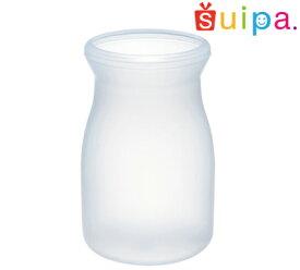 ■【耐熱】PP ブロー 44−100 ミルクボトル 耐熱温度100〜120℃ 容量100cc 10個 【日本製】【牛乳瓶 デザートカップ プリンカップ 使い捨てカップ プリン容器 耐熱容器 プラスチック容器】