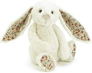 送料無料 Jellycat(ジェリーキャット) ブロッサム バシュフル バニー M ぬいぐるみ ウサギ 座高20cm クリーム