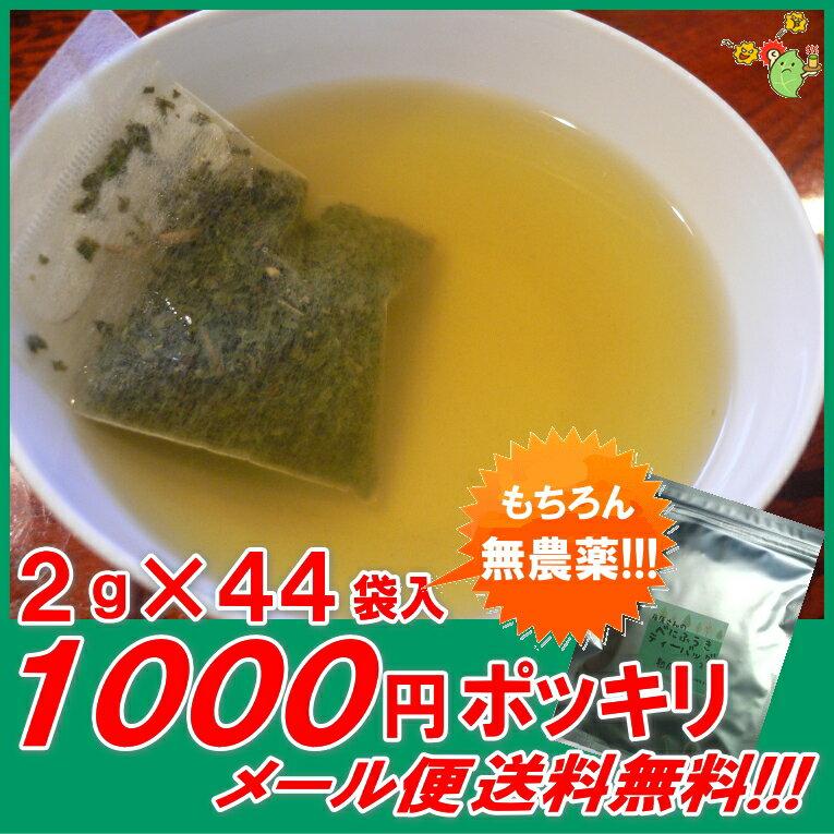 『緑茶べにふうき茶ティーバッグ』2g×44袋 無農薬栽培茶【静岡産】メール便(日時指定不可)で送料無料【通販】メチル化カテキン含有