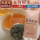 国産無農薬紅茶『五月』100g1番茶100%使用。【無添加】【国産紅茶・静岡産】【通販】よりどり3袋ごとでメール便送料無料対象商品です