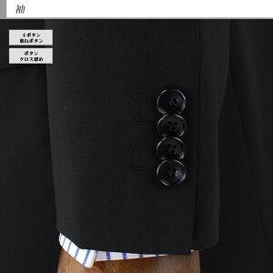 《見えるスーツ福袋》スーツメンズフォーマルブラックスーツ礼服冠婚葬祭サマー夏フォーマルブラック濃染黒無地ワンタックパンツアジャスター付き1RR961-10