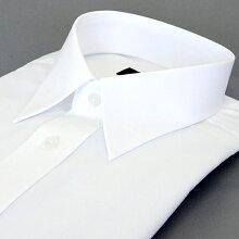 長袖形態安定ワイシャツレギュラーカラー白無地38Z002-19
