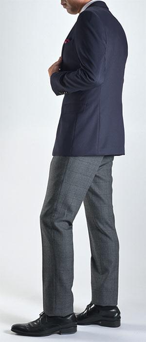 紺ブレザーメンズテーラードジャケット2ボタン貝釦テーラードジャケットトラッドビジカジビジネスカジュアルスリムオールシーズン秋冬春夏