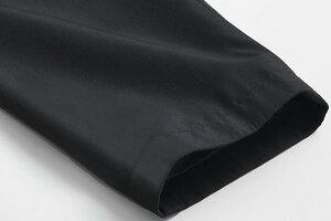レイヤードライナー付・ボンディング素材・2枚衿スタンドカラーコート(黒ブラックビジネスメンズコート着脱キルティングライナースタンドコート通勤コート)【送料無料】05P03Dec16
