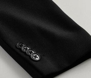 2ツ釦スタイリッシュフォーマルスーツ/濃染加工・深みブラック(メンズスリムスーツセレモニー結婚式冠婚葬祭深みブラック黒礼服)suit【送料無料】