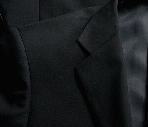 【ウール100%】2ツ釦フォーマルスーツスリムpinkywolman濃染加工ウエストアジャスター調整機能付き(ブラックスーツブラックフォーマルセレモニースーツ結婚式冠婚葬祭深みブラック黒BIGビッグサイズ礼服メンズスーツ)suit【送料無料】