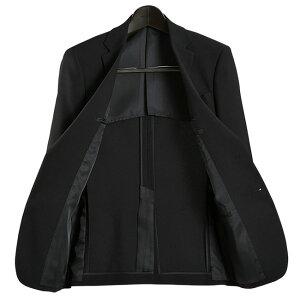 2ツボタンシングルフォーマルスーツアジャスター付(ウエスト調整機能)(メンズブラックスーツ礼服喪服セレモニースーツメンズスーツ結婚式紳士服冠婚葬祭)suit【送料無料】