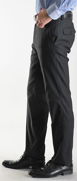 スーパーストレッチ素材スラックスノータックストレートスラックス(ウォッシャブル洗えるスラックスメンズビジネス伸びるパンツ秋冬紳士)pants【送料無料】【1本4,900円2本よりどり9,400円】