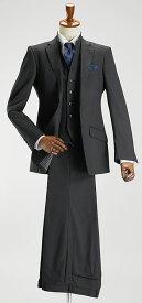 ナチュラルストレッチ素材・イタリアンスタンドベスト2ツボタンスリーピーススーツ【Le orme】(秋冬 メンズ 紳士服 3ピーススーツ ジレ パーティー 二次会 結婚式) suit【送料無料】