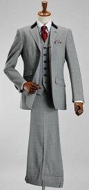 【サイズ限定】段返り3ツボタン モッズスタイル スリーピーススーツ(春夏 スリムスーツ メンズ 3ピーススーツ パーティー 二次会 結婚式 Mods メンズスーツ 紳士服) suit
