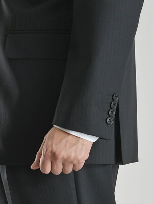 スリーピーススーツ新作ブリティッシュ段返り3ツ釦3ピーススーツ秋冬ウール混素材WoolBlend新作洗えるパンツウォッシャブルプリーツ加工メンズスーツビジネススーツ3Bベスト紳士服suit【送料無料】