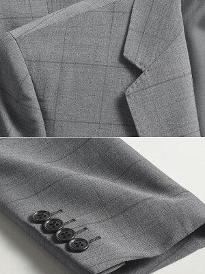 3ピーススリーピース2ツボタンスリムスタイリッシュスリーピーススーツ春夏メンズビジネスパンツウォッシャブルプリーツ加工ジレベスト付ビジネススーツスリムスーツスーツスタイルMARUTOMI)suit【送料無料】