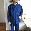 French Work China Jacket & Pants Set up / Dead Stock フレンチ ワーク チャイナ ジャケット パンツ セットアップ /…