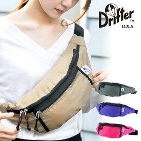 ボディバッグ メンズ レディース ドリフター Drifter ウエストバッグ ファニーパック ボディバッグ ばっく 人気 WAIST PACK ウエストパック バッグ シンプル dfv1550 かっこいい 旅行 ポイント10倍 送料無料 あす楽