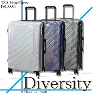 【メーカー取寄・送料無料】スーツケース Lサイズ 軽量 TSAロック搭載 DS-8880 キャリーバッグ 大型 大容量 トラベル キャリケース シンプル 7日 8日 9日 10日 11日 12日 13日 14日 suitcase