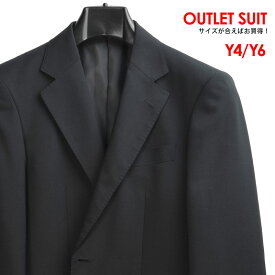 Y4 Y6 春夏 ATHLETE MODE ウール55% シングル2ツボタン メンズスーツ ワンタック 背抜き仕立て 中国製 ダークネイビー無地